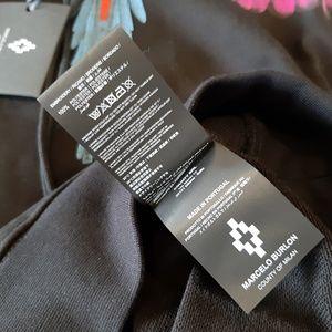 Marcelo Burlon County of Milan Shirts - MARCELO BURLON BLACK COTTON BASIC HOODED